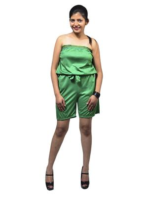 Fbbic 16194 Green Women Jumpsuit