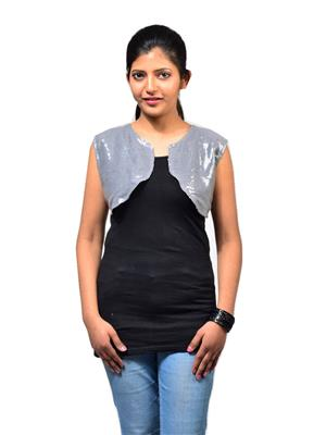 Fbbic 16210 Grey Women Shrug
