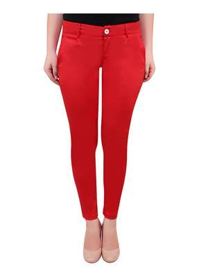 Bhanuja 16Bj0003 Red  Women Trouser