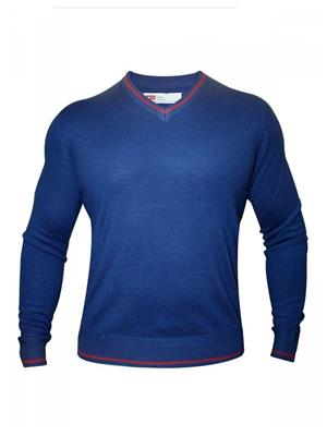 Levis 17208-0001 Blue Full Sleeve V Neck Men Sweater