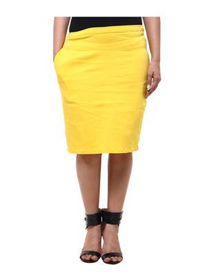 Fbbic 18002 Yellow Women Skirt