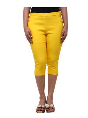 Fbbic 18010 Yellow Women Capri