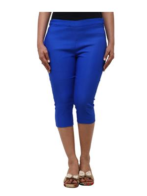 Fbbic 18011 Blue Women Capri