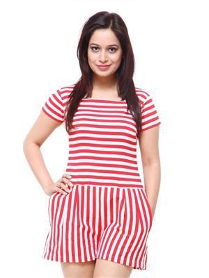 Fbbic 18016 Red Women Jumpsuit