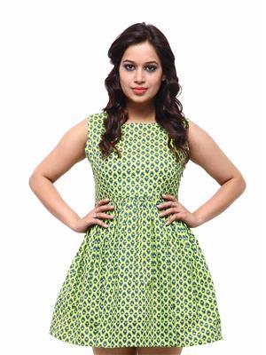 Fbbic 18050 Green Women Dresses