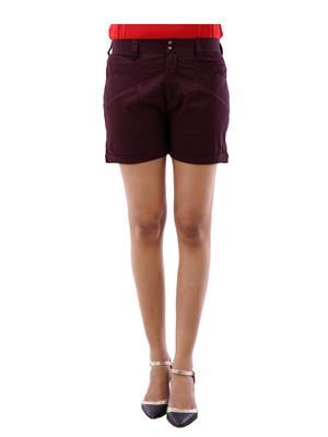 Fbbic 18110 Maroon Women Short