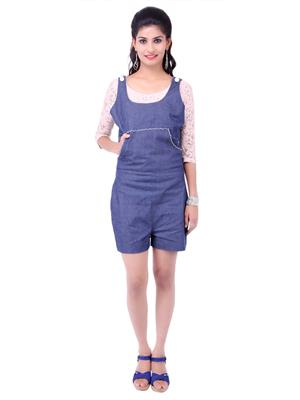 Fbbic 18119 Blue Women Jumpsuit