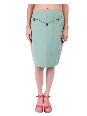 Fbbic 18130 Green Women Skirt