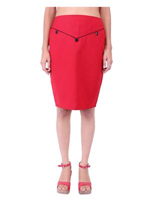 Fbbic 18131 Red Women Skirt