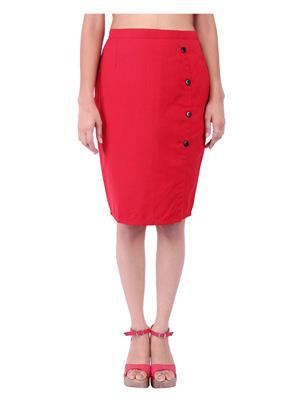 Fbbic 18136 Red Women Skirt