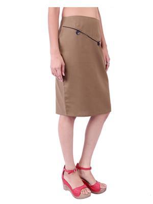Fbbic 18142 Brown Women Skirt