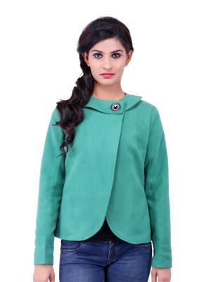 Fbbic 18148 Green Women Coat