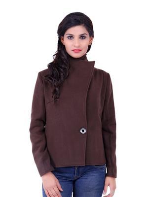 Fbbic 18152 Brown Women Coat