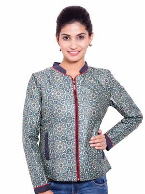 Fbbic 18181 Green Women Coat