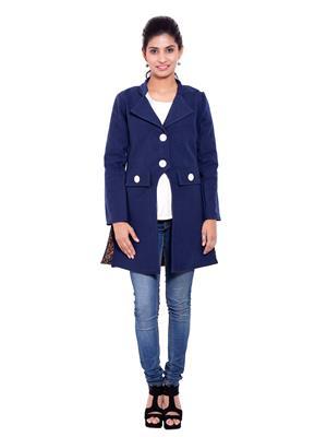 Fbbic 18190 Royal Blue Women Coat