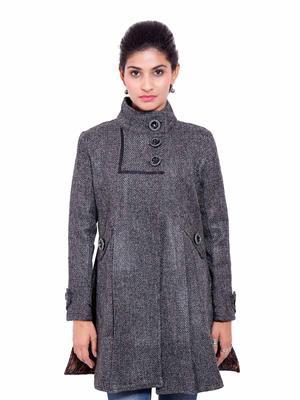 Fbbic 18191 Dark Grey Women Coat