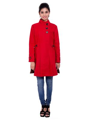 Fbbic 18192 Red Women Coat