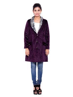 Fbbic 18195 Purple Women Coat