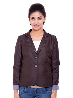 Fbbic 18209 Brown Women Coat
