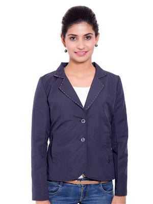 Fbbic 18210 Royal Blue Women Coat