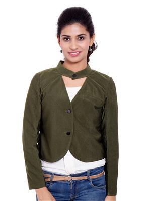 Fbbic 18213 Green Women Coat
