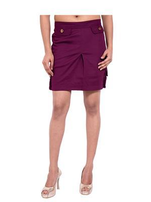 Fbbic 18271 Dark Pink Women Skirt