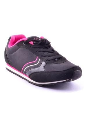 ESCAN 1B3321-2 Black and Pink Sports Shoes