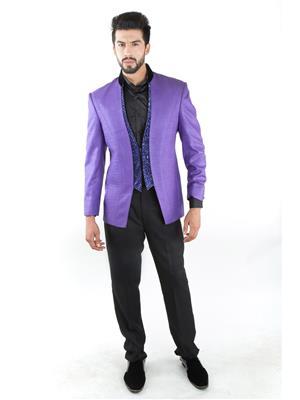 Jahanpanah 1JS1373 Purple Men Blazer