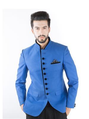 Jahanpanah 1JS1496 Blue Men Blazer