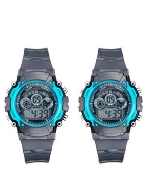 Mango People 2001 Black Unisex Sports Digital Watches