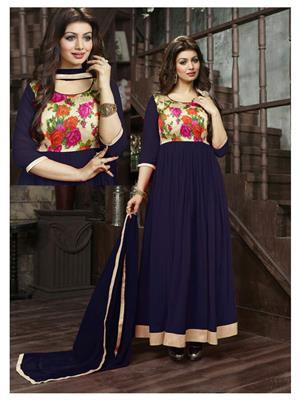 Onlyfashion 2001D Blue Women Salwar Suit