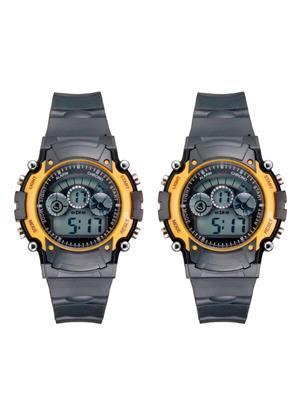 Mango People 2005 Black Unisex Sports Digital Watches