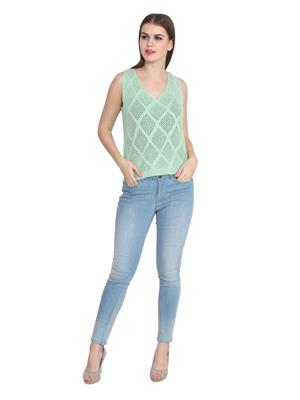 Lee Marc 2008C Green Women Top