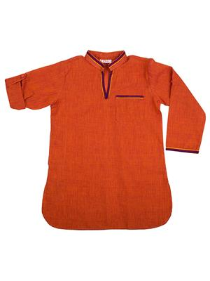 Fbbic 2127 Orange Boy Kurta