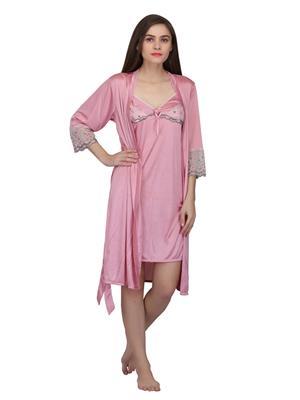 Valentine 2161Pk Pink Women Nighty set