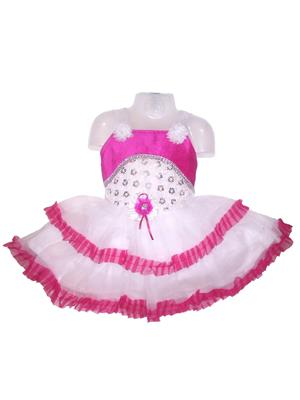 D.S. FASHION KIDS PINK TRENDY FROCK