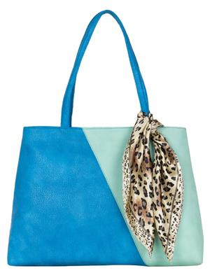 Cappuccino 22035A Blue Women Tote Bag