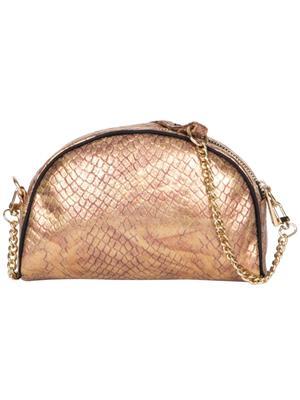Cappuccino 22069 Copper-Black Women Sling Bag