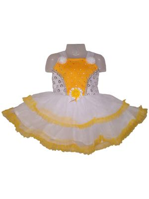 D.S. FASHION KIDS YELLOW TRENDY FROCK