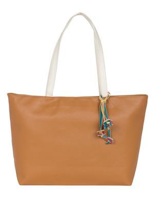 Cappuccino 24005A Camel Women Tote Bag