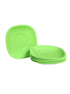 Signoraware 249 Green Snack Plate Set Of 6