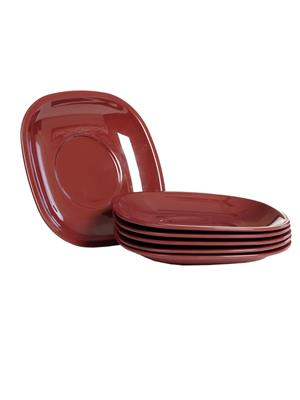 Signoraware 249 Maroon Snack Plate Set Of 6