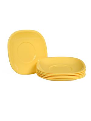Signoraware 249 Yellow Snack Plate Set Of 6