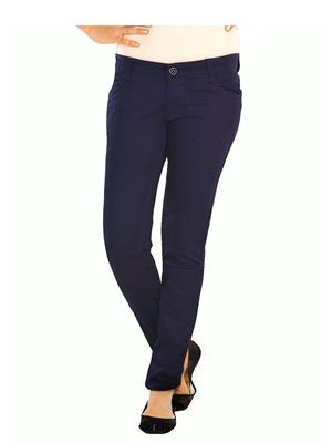 Ebony-Nx 25_Blu Blue Women Trouser
