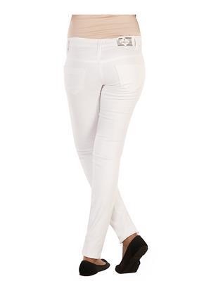 Ebony-Nx 25_Wht_028 White Women Trouser