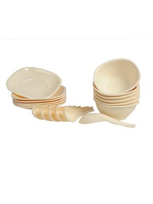 Signoraware 262 Off White Soup Set Of 18