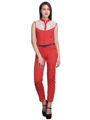 Sierra 293 Red Women Jumpsuit