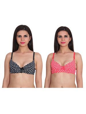 Ansh Fashion Wear 2Cm-769-1-6 Multicolored Women Bra Set Of 2