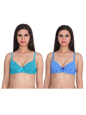 Ansh Fashion Wear 2Cm-769-15-8 Multicolored Women Bra Set Of 2
