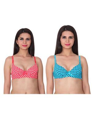 Ansh Fashion Wear 2Cm-769-6-15 Multicolored Women Bra Set Of 2